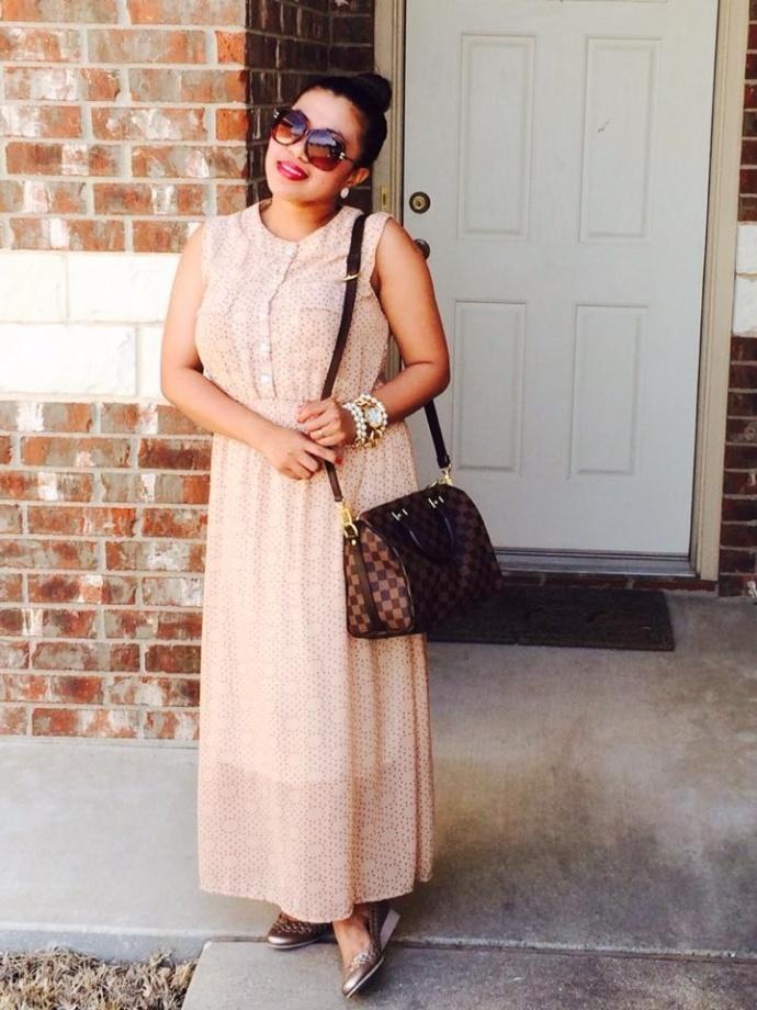 Boho dress in polka dots